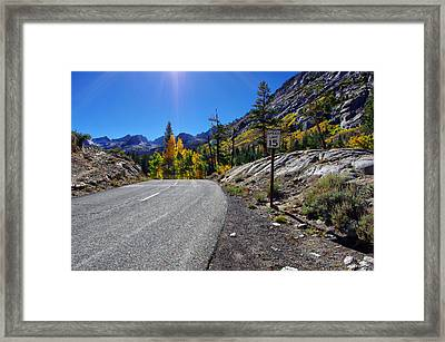 South Lake Road In Fall Framed Print by Scott McGuire