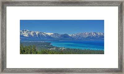 South Lake Tahoe View Framed Print by Brad Scott