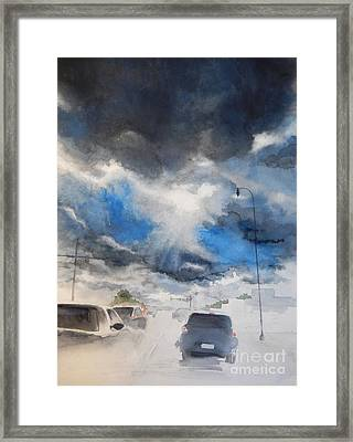 South Maple Road   Ann Arbor Michigan Framed Print by Yoshiko Mishina