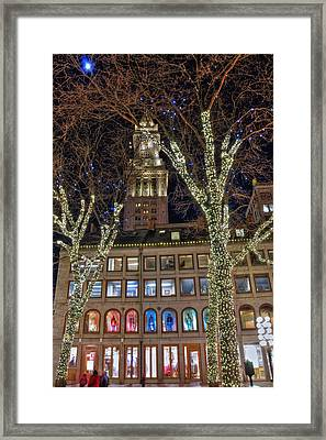 South Market And The Clock Tower - Boston Framed Print by Joann Vitali