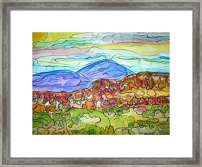 South Mesa Freestyle Framed Print