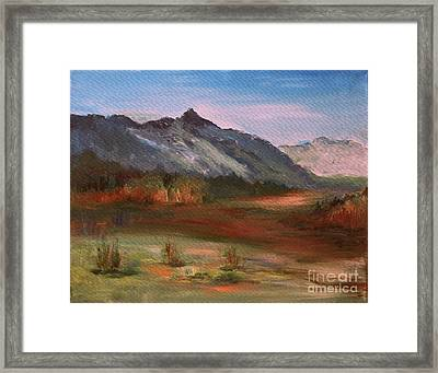 Framed Print featuring the painting South Mountain  by Julie Lueders