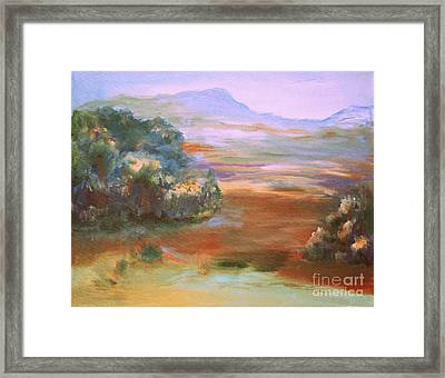 Framed Print featuring the painting South Mountain Second In The Series by Julie Lueders