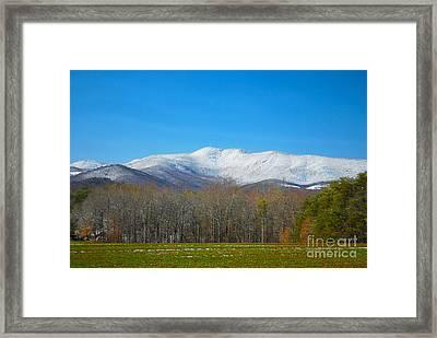 South Mountain Snow Framed Print by Stuart Mcdaniel