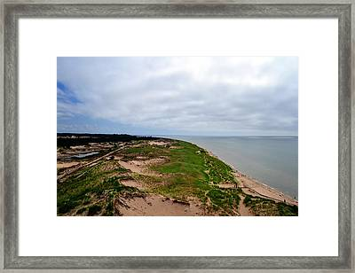 South Of Big Sable Point Framed Print by Michelle Calkins