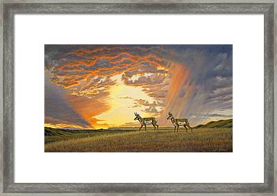 South Of Lander Framed Print