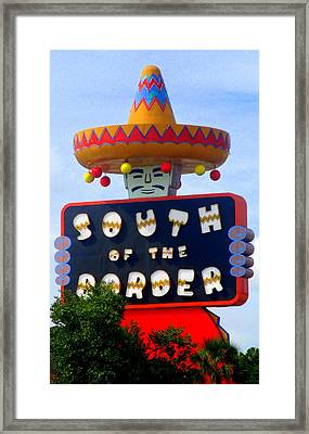 South Of The Border Motel Framed Print by Randall Weidner