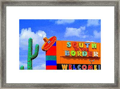 South Of The Border Framed Print by Randall Weidner