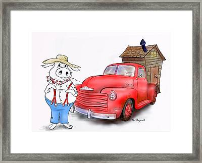 South Or Bust Framed Print by Ted Hayward