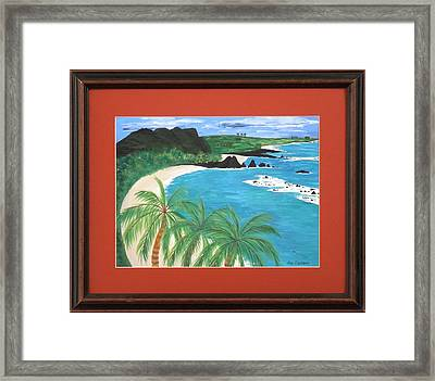 Framed Print featuring the painting South Pacific by Ron Davidson