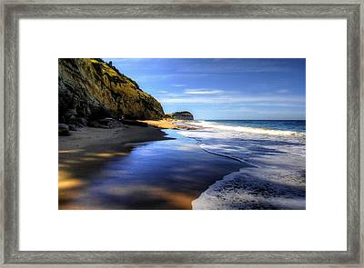 South Pacific Shores Framed Print