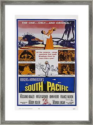 South Pacific, Us Poster, Top From Left Framed Print by Everett