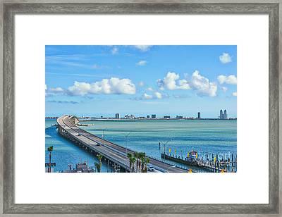 South Padre Island Bridge Framed Print