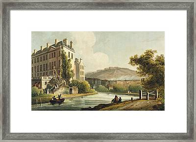 South Parade From Bath Illustrated Framed Print