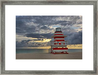 South Pointe Park Lighthouse Framed Print by Claudia Domenig