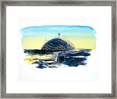 South Pole Dome Antarctica Framed Print by Carolyn Doe