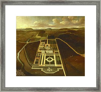 South Prospect Of Hampton Court, Herefordshire Inscribed Framed Print by Litz Collection