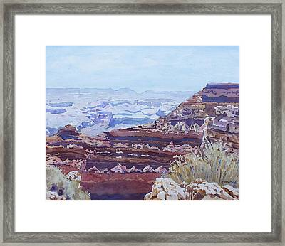 South Rim Color Framed Print