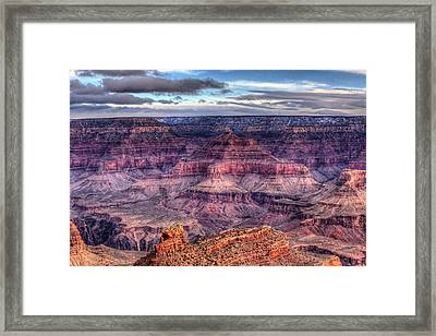 South Rim Morning Framed Print by Dave Files