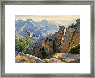 South Rim Morning Framed Print