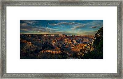 South Rim Nightfall Framed Print