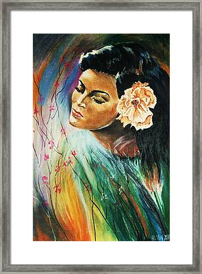 Framed Print featuring the painting South Sea Flower by Al Brown