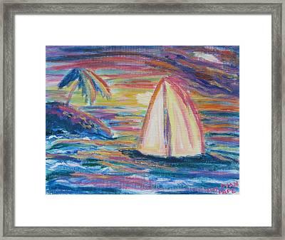 South Seas Sunset Framed Print