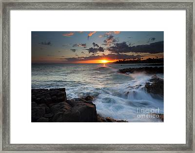 South Shore Waves Framed Print by Mike  Dawson