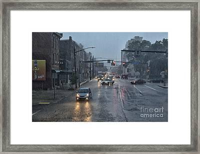 South Side In The Rain Framed Print by Thomas R Fletcher