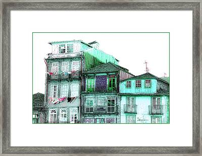 South Side Of Town-featured In Old Buildings And Ruins Group Framed Print by EricaMaxine  Price