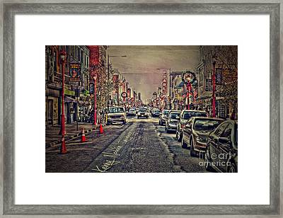 South St. Philadelphia  Framed Print by Kenny  Noddin