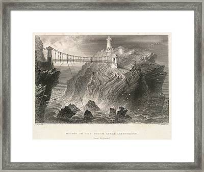 South Stack Lighthouse Framed Print by British Library