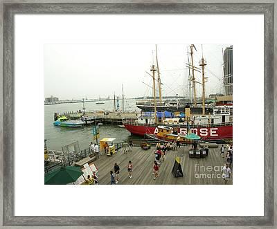 South Street Seaport  N Y C Framed Print by Anthony Morretta