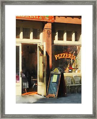 South Street Seaport Pizzeria Framed Print by Susan Savad