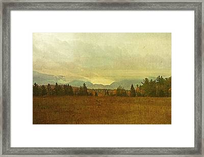 South To Franconia Notch Framed Print