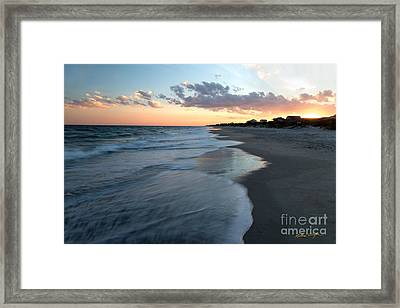 South Topsail Beach Sunset 2014 Framed Print