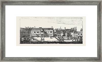 South View Of Arundel House In 1646 London Uk Framed Print