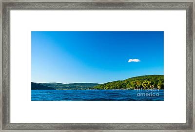 South View Of Canandaigua Lake Framed Print by Steve Clough
