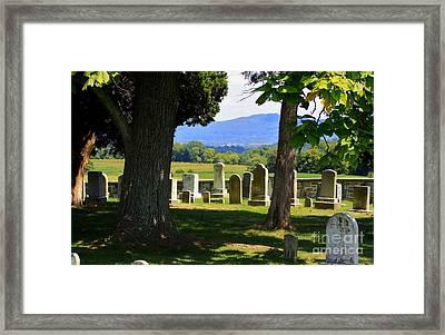 South West Corner Of Mumma Cemetery Framed Print by Patti Whitten
