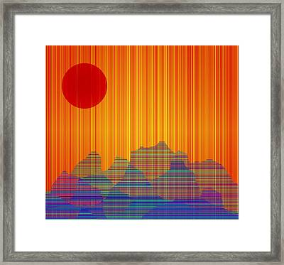 Framed Print featuring the digital art South West IIi by Bruce Rolff