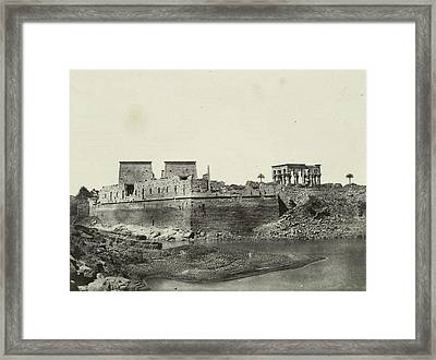 South-west Side Of The Temple Complex Of Philae Framed Print