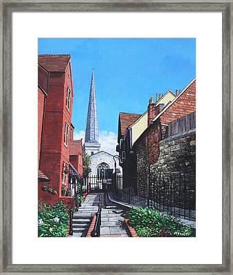 Southampton Blue Anchor Lane Framed Print by Martin Davey