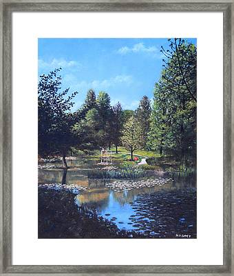 Southampton Hillier Gardens Late Summer Framed Print by Martin Davey