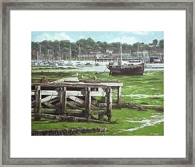 Southampton Northam River Itchen Mudflats Framed Print by Martin Davey