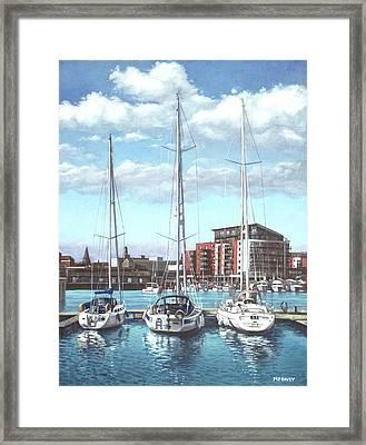Southampton Ocean Village Marina Framed Print