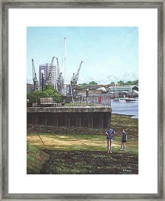 Southampton River Itchen Chapel Tredegar Wharf Framed Print by Martin Davey