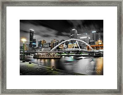 Southbank Footbridge Framed Print by Az Jackson