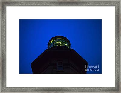 Southeast Lighthouse On Block Island  Framed Print by Diane Diederich