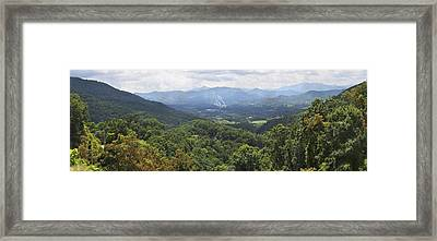 Southern Appalachian Mountains - Panoramic Framed Print by Mike McGlothlen
