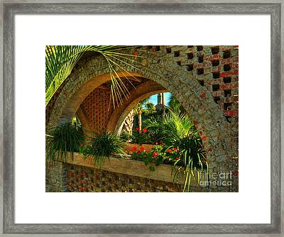 Southern Arches Framed Print by Mel Steinhauer